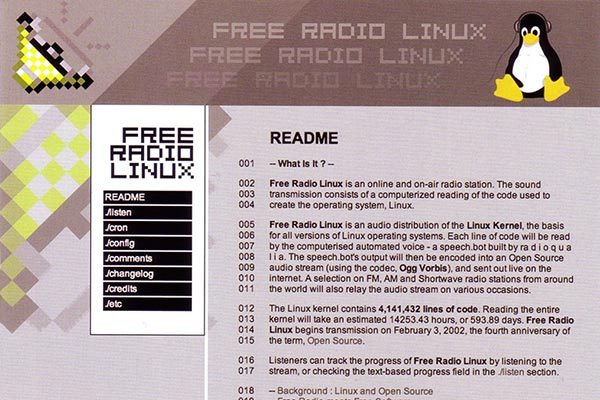free radio linux tutorial net art